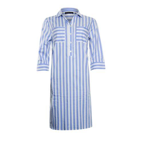 Anotherwoman dameskleding jurken - jurk met 3/4 mouw. beschikbaar in maat 36,38,40,44,46 (blauw,multicolor,wit)
