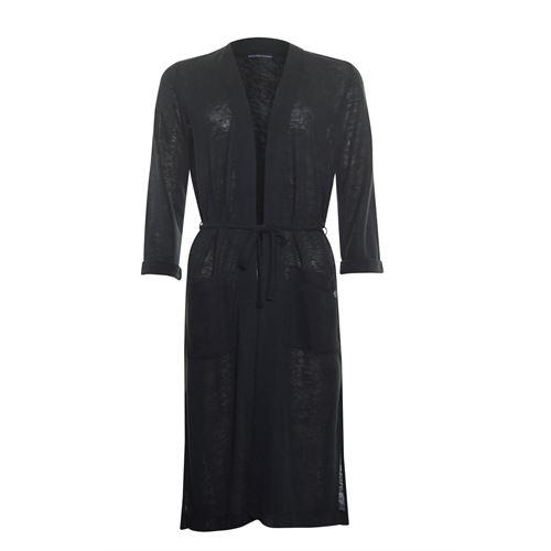Anotherwoman dameskleding truien & vesten - vest lang model. beschikbaar in maat 38,40,42,44,46 (zwart)