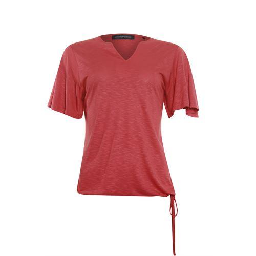 Anotherwoman dameskleding t-shirts & tops - t-shirt k/m. beschikbaar in maat  (rood)