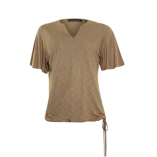Anotherwoman dameskleding t-shirts & tops - t-shirt k/m. beschikbaar in maat 36,38,44,46 (bruin)