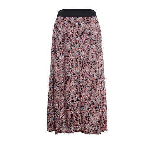 Anotherwoman dameskleding rokken - rok geprint. beschikbaar in maat 36,38,40,42,44,46 (bruin,multicolor,rood)