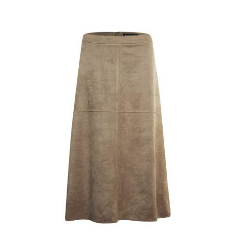 Anotherwoman dameskleding rokken - rok suedelook. beschikbaar in maat 38,40,42,44,46 (bruin)