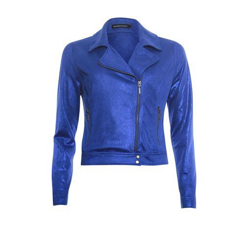 Anotherwoman ladieswear coats & jackets - bikerjacket. available in size 38,40,42,46 (blue)