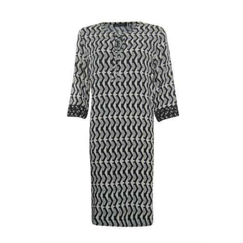 Anotherwoman dameskleding jurken - jurk. beschikbaar in maat 36,38,40,42,44,46 (ecru,multicolor,zwart)