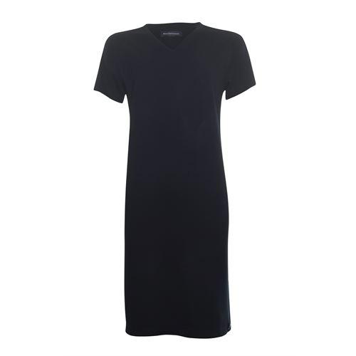 Anotherwoman dameskleding jurken - jurk met v-hals. beschikbaar in maat 36,38,40,42,44,46 (zwart)