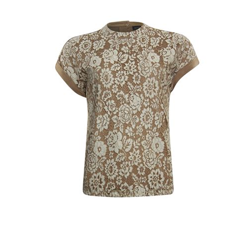 Anotherwoman ladieswear t-shirts & tops - t-shirt. available in size 36,38,40,42,44,46 (brown)