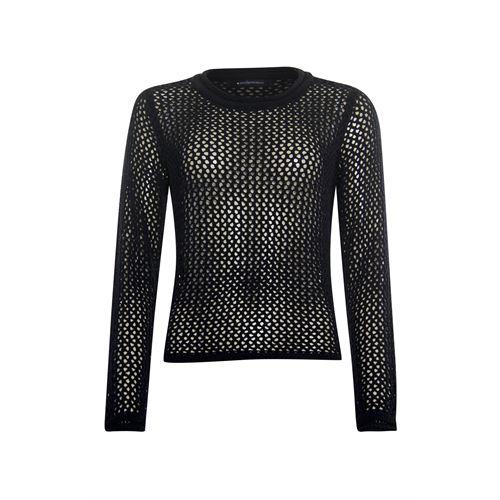 Anotherwoman dameskleding truien & vesten - pullover 3/4  mouw. beschikbaar in maat 38,40,42,44,46 (zwart)