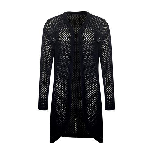 Anotherwoman dameskleding truien & vesten - vest met v-hals. beschikbaar in maat 36,38,40,42,44 (zwart)