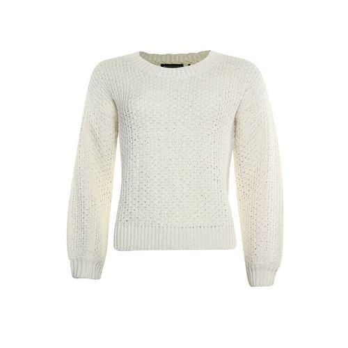 Anotherwoman dameskleding truien & vesten - pullover met ronde hals. beschikbaar in maat 36,38,40,42,44,46 (ecru)