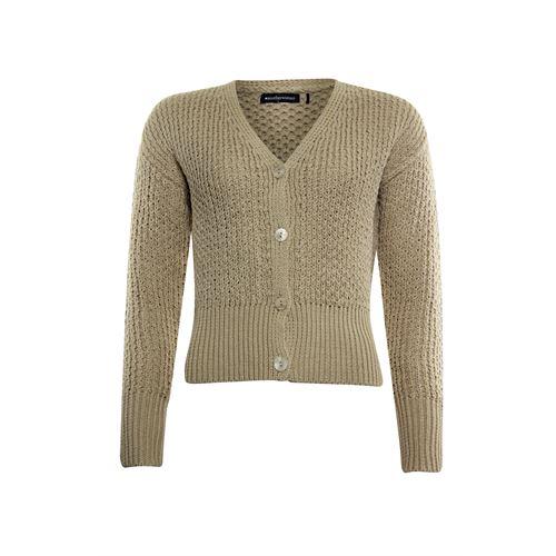 Anotherwoman dameskleding truien & vesten - vest met v-hals. beschikbaar in maat 38,40,42,44,46 (bruin)