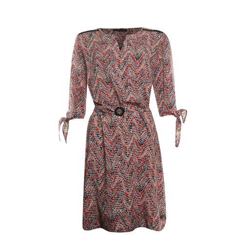Anotherwoman dameskleding jurken - jurk met ceintuur. beschikbaar in maat 36,38,40,42,44,46 (bruin,multicolor,rood)