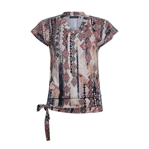 Anotherwoman dameskleding t-shirts & tops - t-shirt blouson met v-hals. beschikbaar in maat 36,38,40,42,44,46 (multicolor,rood,zwart)