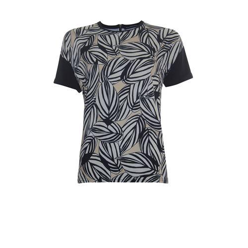 Anotherwoman dameskleding t-shirts & tops - t-shirt met ronde hals. beschikbaar in maat 36,38,40,42,44,46 (ecru,multicolor,zwart)