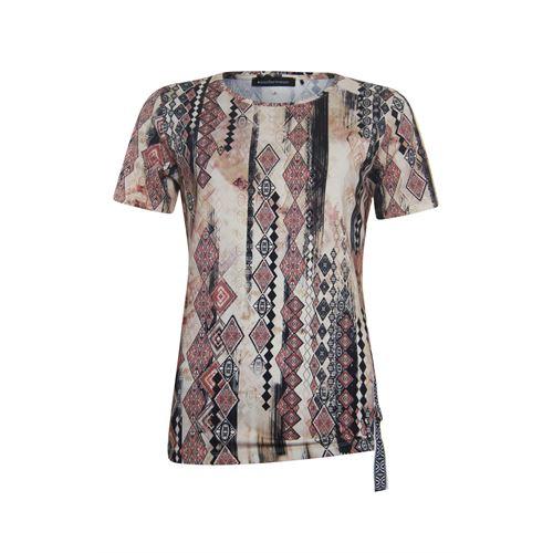 Anotherwoman dameskleding t-shirts & tops - t-shirt met ronde hals. beschikbaar in maat 40,42,44,46 (multicolor,rood,zwart)