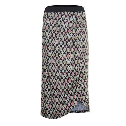Anotherwoman dameskleding rokken - rok. beschikbaar in maat 36,38,44 (bruin,multicolor,rood,zwart)