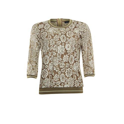 Anotherwoman dameskleding t-shirts & tops - sweater kant. beschikbaar in maat 36,40,44,46 (bruin)