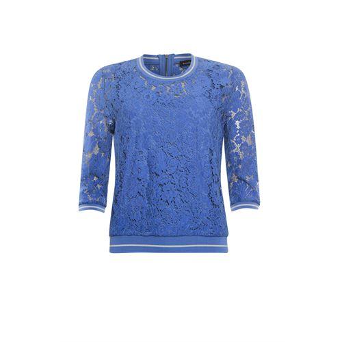 Anotherwoman dameskleding t-shirts & tops - sweater kant. beschikbaar in maat 36,38,40,42,44,46 (blauw)