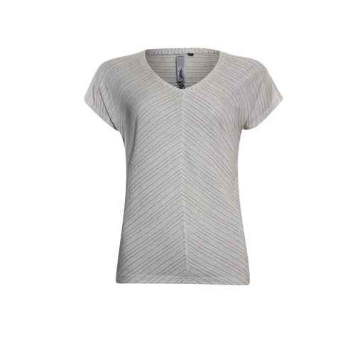 Poools ladieswear t-shirts & tops - t-shirt stripe. available in size 36,38,40,42,44,46 (brown)