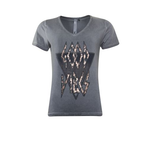 Poools ladieswear t-shirts & tops - t-shirt vibes. available in size 36,38,40,42,44,46 (grey)