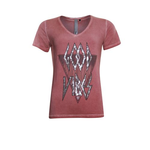 Poools ladieswear t-shirts & tops - t-shirt vibes. available in size 36,38,40,42,44,46 (red)