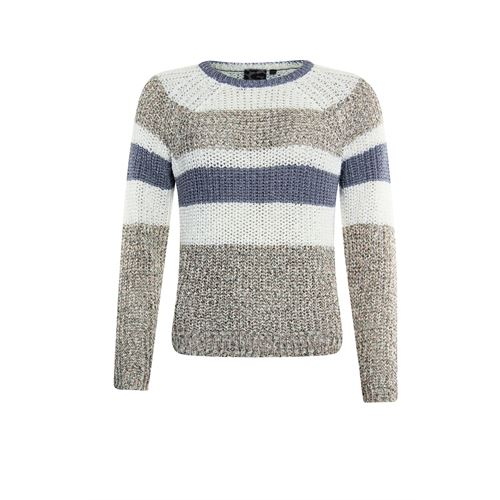 Poools ladieswear pullovers & vests - sweater striped. available in size 36,38,40,42,44,46 (off-white)