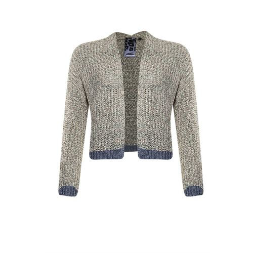 Poools ladieswear pullovers & vests - cardigan striped. available in size 44,46 (multicolor)