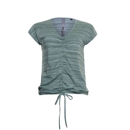 Poools ladieswear t-shirts & tops - t-shirt stripe. available in size 36,38,40,42,44,46 (green)