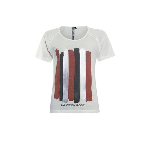 Poools ladieswear t-shirts & tops - t-shirt la vie. available in size 36,38,40,42,44,46 (off-white)