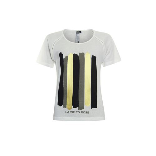 Poools ladieswear t-shirts & tops - t-shirt la vie. available in size 36,38,40,42,44,46 (multicolor)