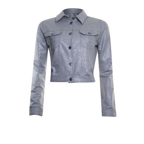 Poools dameskleding jassen & blazers - jacket foil. beschikbaar in maat 38,46 (grijs)
