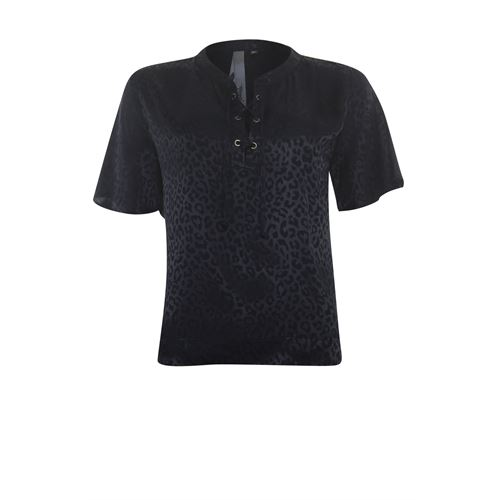 Poools ladieswear blouses & tunics - blouse jacquard. available in size 36,38 (black)