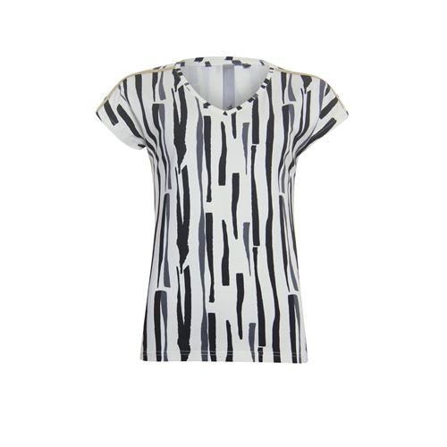 Poools ladieswear t-shirts & tops - t-shirt print. available in size 36,38,40,42,44,46 (off-white)