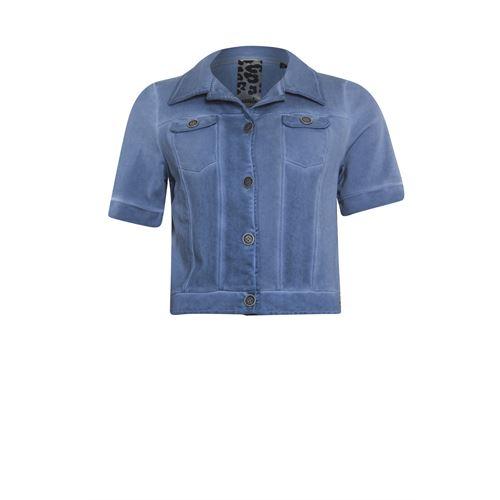 Poools dameskleding jassen & blazers - jasje korte mouw. beschikbaar in maat 36,38,40,42,44,46 (blauw)