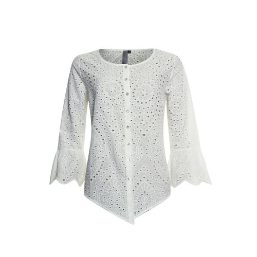 Poools ladieswear blouses & tunics - blouse broderie. available in size 42 (off-white)