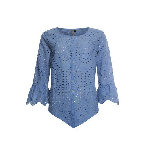 Poools ladieswear blouses & tunics - blouse broderie. available in size 38 (blue)