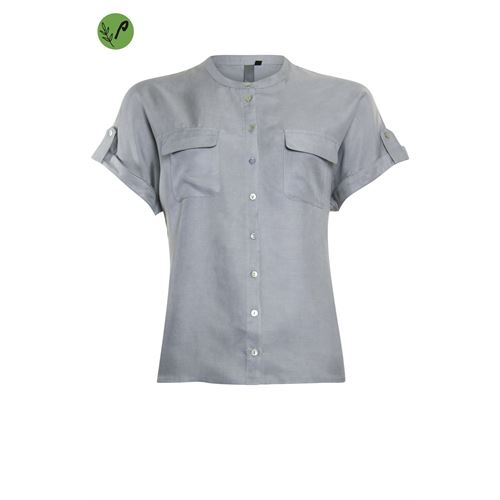 Poools ladieswear blouses & tunics - blouse tencel. available in size 36,38,40,42,44,46 (grey)