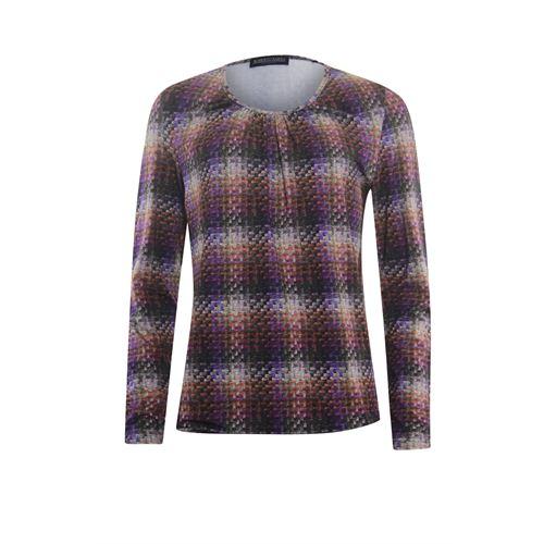 Roberto Sarto ladieswear t-shirts & tops - blouson o-neck, l/s. available in size 38,40,42,48 (brown,multicolor,purple)