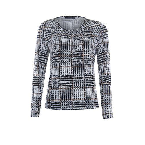 Roberto Sarto ladieswear t-shirts & tops - blouson o-neck, l/s. available in size 38,42 (black,brown,multicolor)