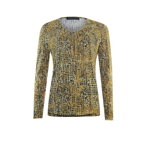 Roberto Sarto ladieswear t-shirts & tops - blouson o-neck, l/s. available in size 38,48 (multicolor,olive,yellow)