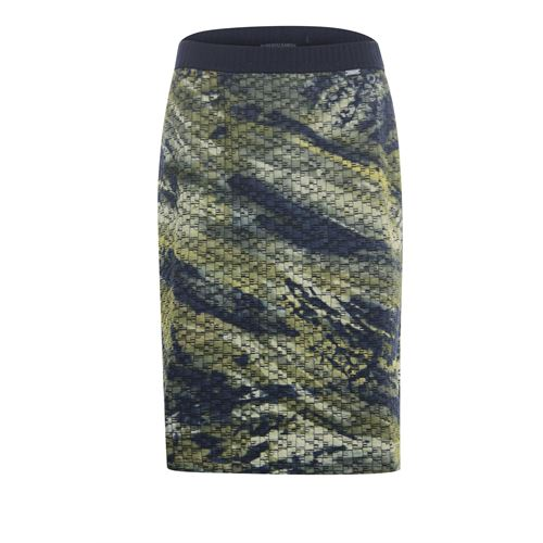 Roberto Sarto ladieswear skirts - skirt straight  printed. available in size 42,44,48 (multicolor,olive)