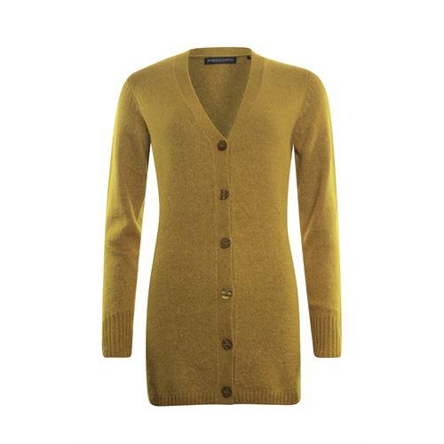 Roberto Sarto dameskleding truien & vesten - vest met sjaalkraag en knoopsluiting. beschikbaar in maat 40,42,44,46,48 (oker)