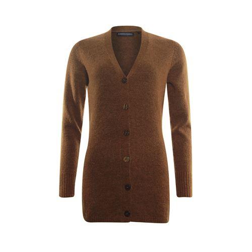 Roberto Sarto dameskleding truien & vesten - vest met sjaalkraag en knoopsluiting. beschikbaar in maat 40,42,46,48 (bruin)