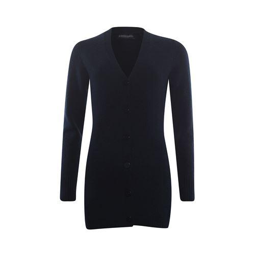 Roberto Sarto dameskleding truien & vesten - vest met sjaalkraag en knoopsluiting. beschikbaar in maat 46 (blauw)