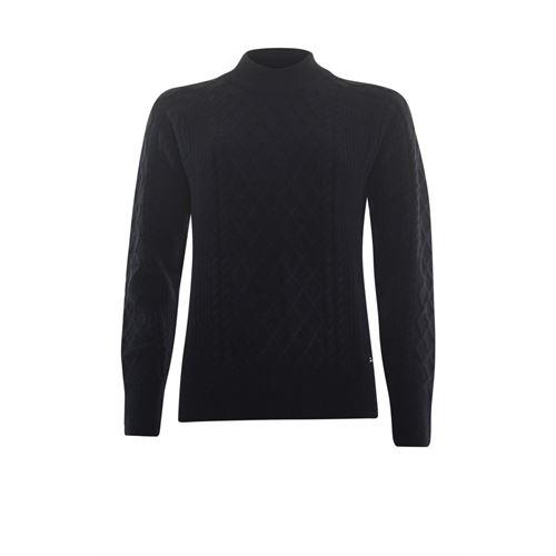 Roberto Sarto dameskleding truien & vesten - kabeltrui opstaande hals. beschikbaar in maat 44 (zwart)