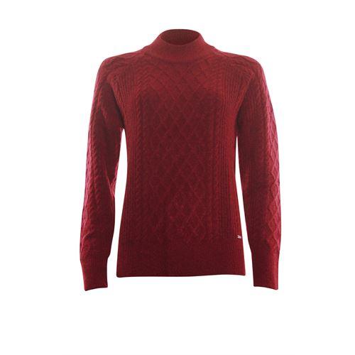Roberto Sarto dameskleding truien & vesten - kabeltrui opstaande hals. beschikbaar in maat 40,48 (rood)