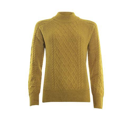 Roberto Sarto dameskleding truien & vesten - kabeltrui opstaande hals. beschikbaar in maat 48 (oker)