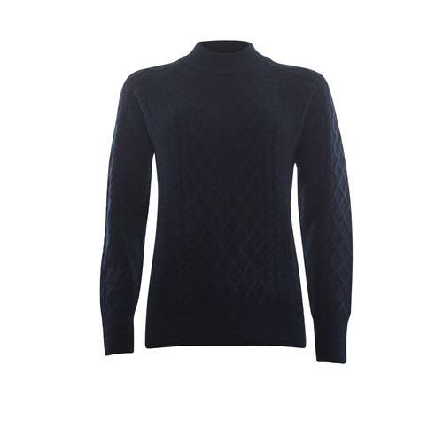 Roberto Sarto dameskleding truien & vesten - kabeltrui opstaande hals. beschikbaar in maat 48 (blauw)