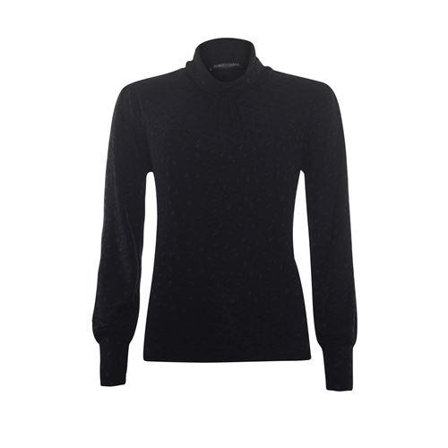 Roberto Sarto dameskleding t-shirts & tops - lichte pullover met kol. beschikbaar in maat 38,40,42,44,48 (zwart)