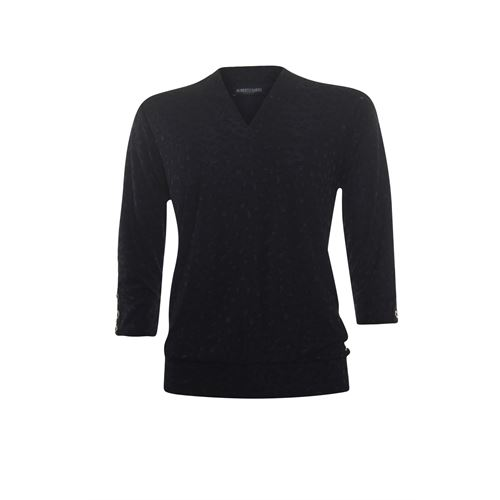 Roberto Sarto ladieswear t-shirts & tops - light blouson  pullover, v-neck 3/4 sleeves. available in size 38,40,42,44,46,48 (black)