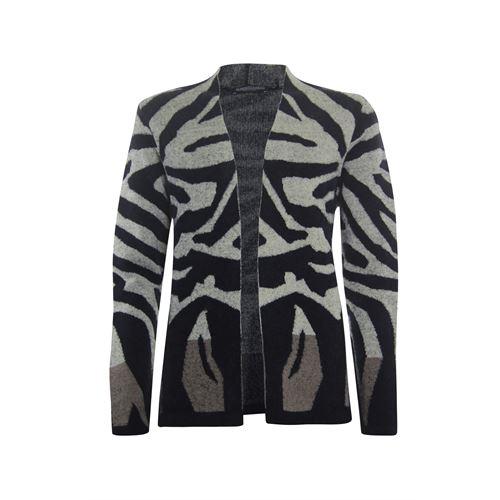 Roberto Sarto dameskleding truien & vesten - openvallendl vest in dessin. beschikbaar in maat 40,42,44,46,48 (multicolor)